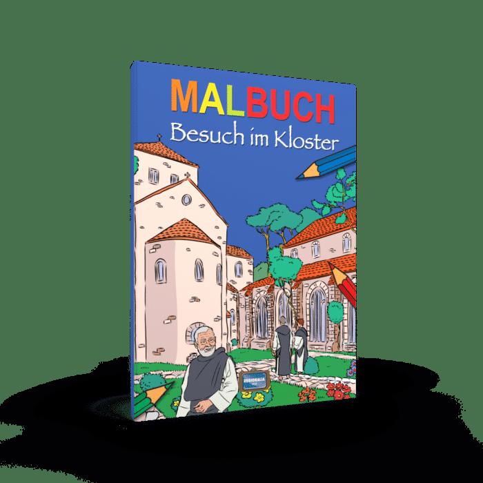 Malbuch Besuch im Kloster
