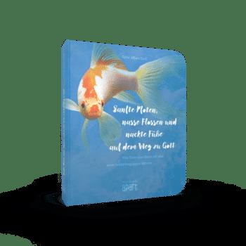 nasse Flossen und nackte Füße auf dem Weg zu Gott